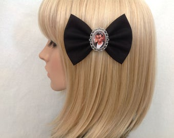 Cry baby Johnny Depp hair bow clip rockabilly psychobilly pin up girl vintage retro Traci Lords geek ladies girls
