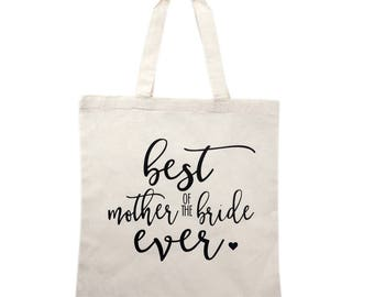 Mother of Bride Tote Bag Gift, Bridal Party Tote Bags, Wedding Canvas Bags, Bridesmaid Gifts, Mother Gifts, Maid of Honor Gift