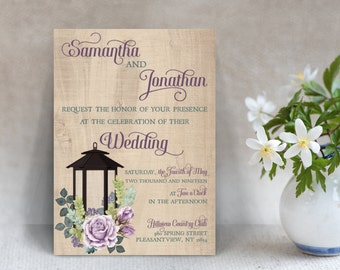 Rustic Wedding Invitations - Rustic Chic Wedding - Country Wedding - Wedding Stationery - Rustic Wedding Decor - Wedding Decorations