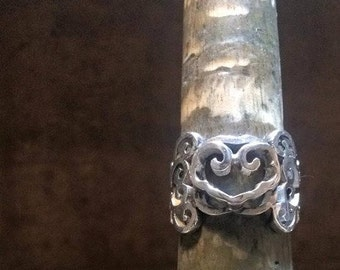 Chinese wishful figure Ring
