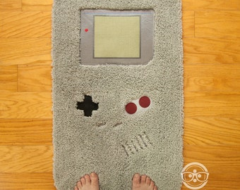 """Nintendo """"Game Boy"""" Video Game Inspired  - Embroidered Bath Mat or Rug"""
