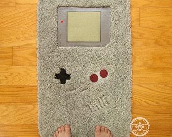 Nintendo Bath Mat or Rug - Game Boy - Embroidered Video Game Bathroom or Kitchen Decor