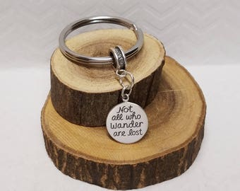 Not All Who Wander Are Lost Keyring Wanderlust Gift Idea