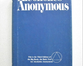 Alcoholics Anonymous The Big Book Vintage Hardcover Third Edition With Dust Cover Self Help Addicts