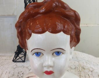 HUGH old vintage doll head bAbY bisque
