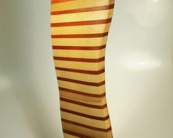 "Vintage MCM Original Signed Abstract Wood ""Sail"" Sculpture"
