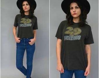 1980s 29 AND HOLDING paper thin distressed t shirt