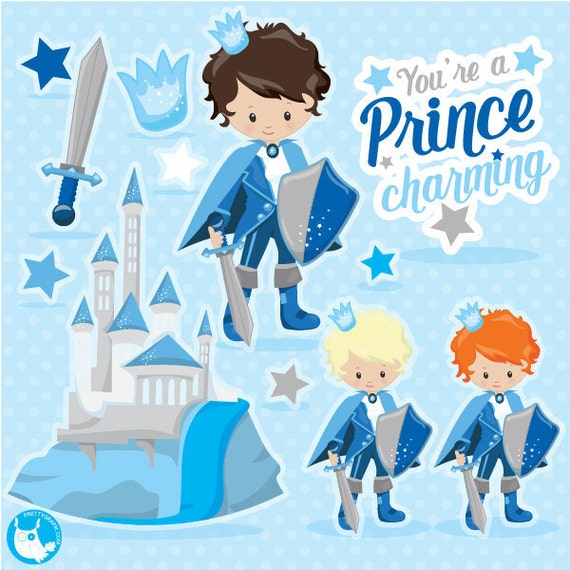 80% OFF SALE Fairytale prince clipart for scrapbooking,clipart commercial use, vector graphics, digital clip art, images, knight - CL1067