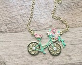 READY TO SHIP, bicycle gift, bicycle jewelry, bike gift, bicycle charm, bike charm necklace, gifts for teen girls, gifts for cyclists