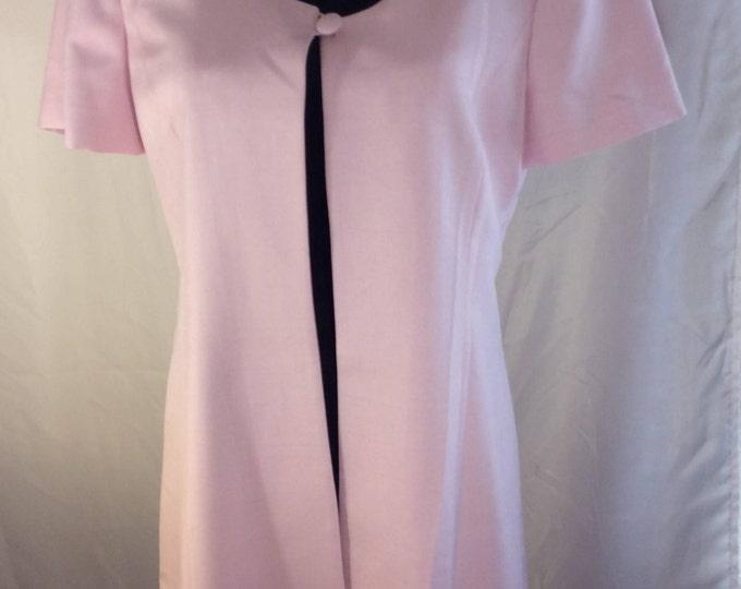 Vintage Kay Unger one button short sleeve pink coat, beautiful casual elegance , vintage vogue, vintage jacket