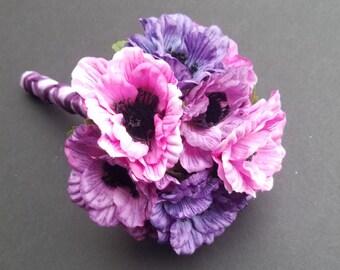 Toss Bouquet / Anemones / Throw Away Bouquet.