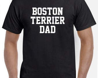 Boston Terrier Dad Shirt Tshirt Gift