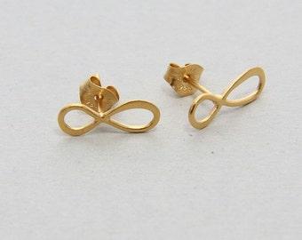 Infinity Earrings, Infinity Stud Earrings, Infinity Studs, Tiny Infinity Studs, Gold Infinity Stud, Tiny Infinity Earrings, Infinity Jewelry