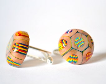 Men's cuff links from Magic KOH-I-NOOR colored pencils.