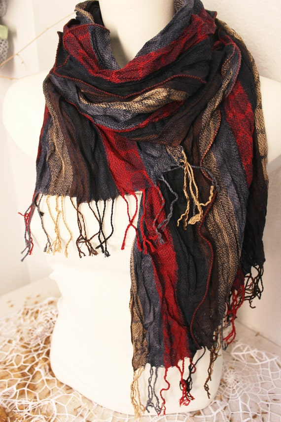 linen scarves gray scarf ethnic scarves by