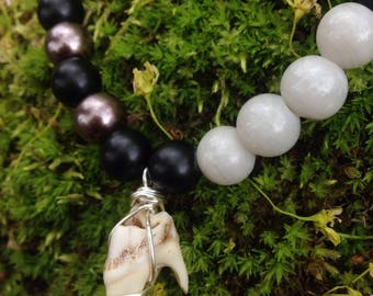 Deer Tooth Beaded Necklace