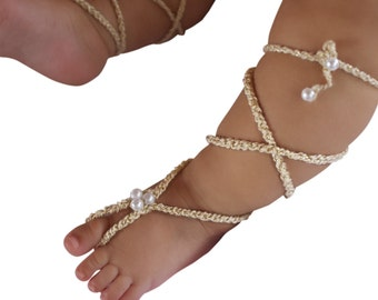 Gold Gladiator Sandals, Barefoot Sandals, Crochet Baby Sandals, Crochet Barefoot, Baby Sandals, Gladiator Sandals, Newborn Sandals