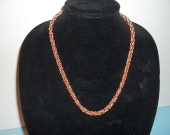 22 inch solid Copper Byzantine Necklace