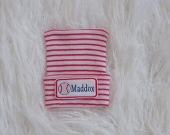 Newborn Hospital Hat. Newborn Baseball Hat. Newborn Hospital Beanie.  Newborn Hat with Name