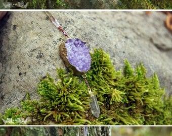 Lilac Druzy Statement Necklace