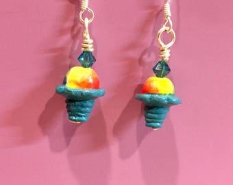 Snow Cone Swarovski Earrings