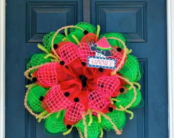 READY TO SHIP - Summer Watermelon Wreath