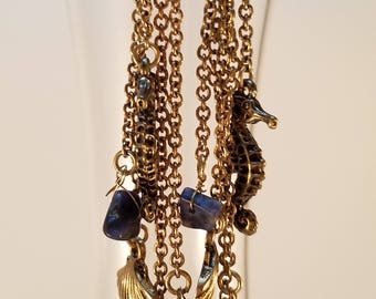 Nautical navy earrings