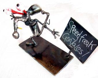 """Rat On Drugs Sculpture """"Speedfreak Gonzales"""""""