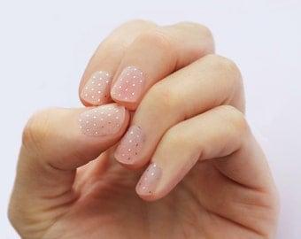 Gold Swiss Dot Transparent Nail Wraps