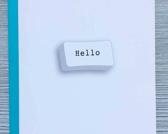 Hello, It's Me, Relationship Card, Friendship Card, Congratulations Card, Romantic Card, Miss You Card, Adele Song Lyrics, Animal Charm