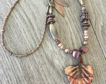 Rusted Fall Medley Necklace