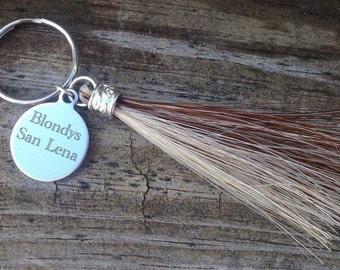 Horse Hair Key Chain,  Horsehair Key Chain, Personalized Key Chain, Personalized Equestrian Gift
