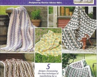 "Annie's Attic ""Tip Top Afghans"" Crochet Pattern Leaflet Number 872911 Easy to Make  Afghan Blankets"