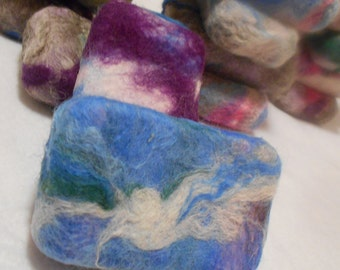 Custom Felted Soap,  Hand Wrapped Bars, Felted Bath Bars, Exfoliating, Custom Color Coordinated, Moisturizing, Stocking Stuffers, Cyber Deal