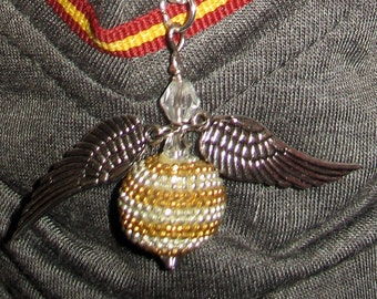 """Golden Snitch Necklace for 18"""" Dolls"""