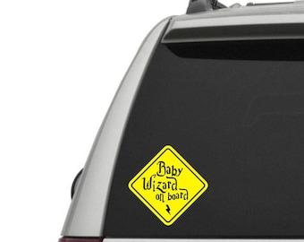Baby Wizard on board - vinyl window decal - car window decal - wizard on board - wizarding - baby wizard - car decal