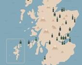 Scottish Gin Distilleries Map
