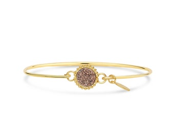 Rose Gold Druzy Bracelet, Druzy Jewelry, Drusy Bracelet, Drusy Jewelry, Druzy Quartz Bracelet, Bridesmaid Jewelry
