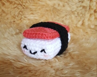 Onolicious Crochet Amigurumi Spam Musubi Plushie, Crochet Sushi Plushie, Crochet Musubi Plushie, Toy
