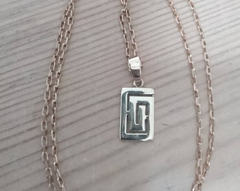 Vintage 14k pendant with 9k chain