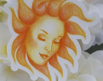 Sun Goddess Sticker