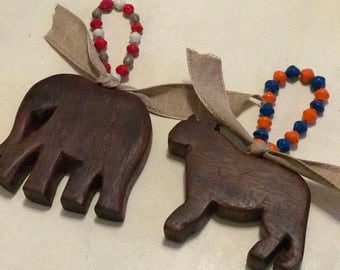 Hand Carved Wooden Animals