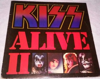 1977 KISS ALIVE II double album with gatefold cover and original inner picture sleeves Free Shipping