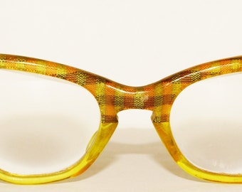 1950s Cat Eye Glasses Foil Vintage Retro