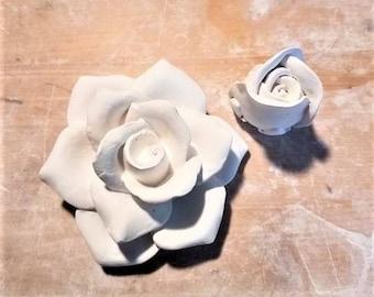 Rose wall flower sculpture, rose bud, wall hanging flower, stone flower, rose sculpture, modern floral decor