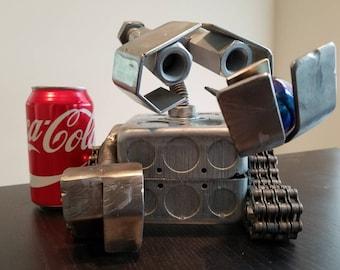 Wall-E - Metal Robot Assemblage Sculpture / Figurine