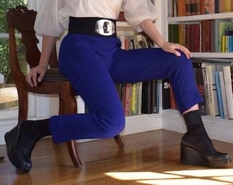 Royal Blue Knit Pants