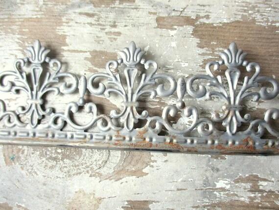 Metal Lace Ribbon Tin Filigree Edging Decorative Trim For Projects 3 Feet Rusty Galvanized Metal