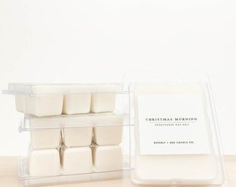CHRISTMAS MORNING Soy Wax Melts | Scented Soy Tarts, Soy Candle Melt, Scented Wax Cubes