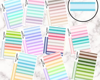 Double Dot Strips - 12 Colour Variations Available!! - 20 stickers per sheet! - use for appointments, meetings, events etc - Premium Matte